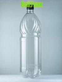 Бутылка ПЭТ 1,5л с крышкой (100шт) прозр